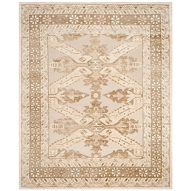 Astoria Grand Hebert Hand-Knotted Beige Area Rug; 8' x 10'
