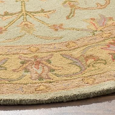 Astoria Grand Taylor Hand-Tufted Wool Green/Beige Area Rug; Round 8'