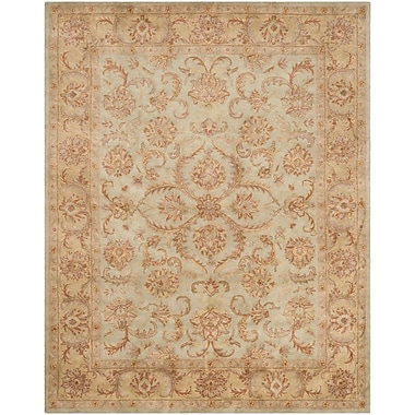Astoria Grand Taylor Hand-Tufted Wool Green/Beige Area Rug; Rectangle 12' x 18'