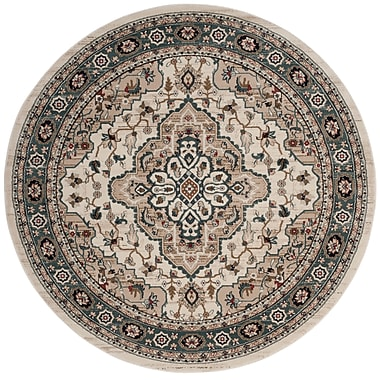Astoria Grand Taufner Cream/Beige Area Rug; Round 7' x 7'