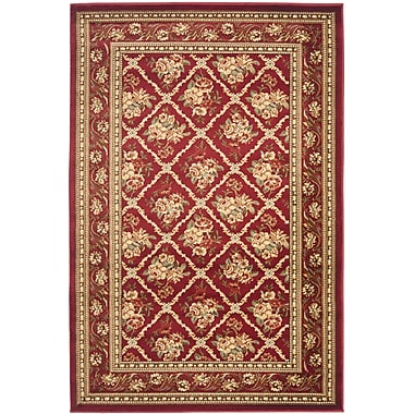 Astoria Grand Taufner Red Area Rug; Rectangle 4' x 6'