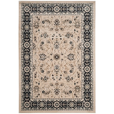 Astoria Grand Taufner Light Beige/Anthracite Area Rug; Rectangle 8'11'' x 12'
