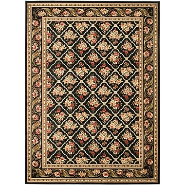 Astoria Grand Taufner Black Area Rug; Rectangle 4' x 6'
