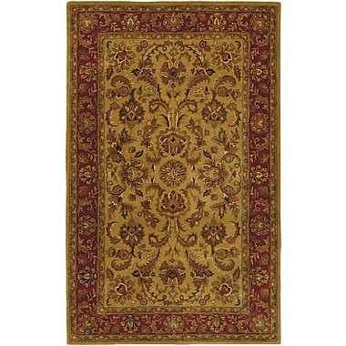 Astoria Grand Garrison Gold/Red Area Rug; Rectangle 2' x 3'