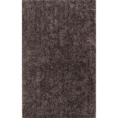 Ivy Bronx Nan Grey Shag Rug; 5' x 7'6''