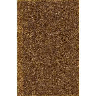 Ivy Bronx Nan Shag Gold Area Rug; 5' x 7'6''
