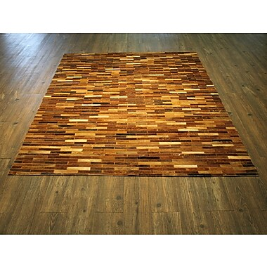 Loon Peak Ramirez Hand-Woven Tan Area Rug