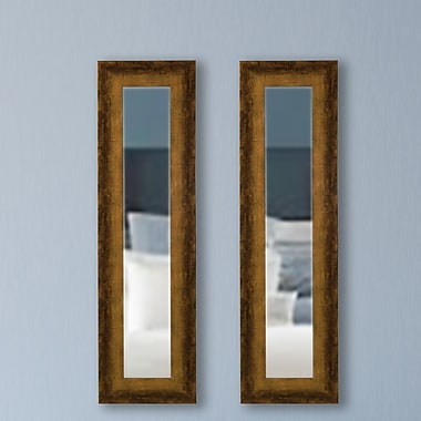 Brayden Studio Panel Mirror (Set of 2); 21.5'' H x 9.5'' W x 0.75'' D