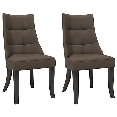 Brayden Studio Iris Parsons Chair (Set of 2); Brown