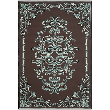Charlton Home Sedgemoor Hand-Hooked Chocolate Area Rug; Rectangle 4' x 6'