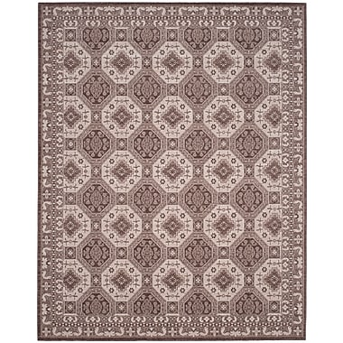 Charlton Home Salisbury Brown/Ivory Area Rug; Rectangle 9' x 12'