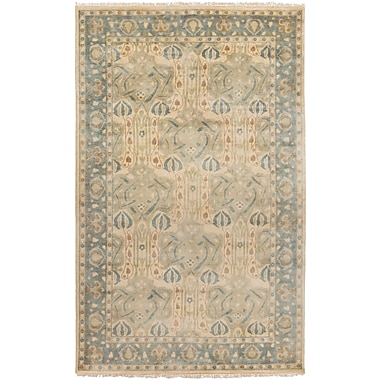 Darby Home Co Nevins Light Gray/Moss Area Rug; 5' x 8'