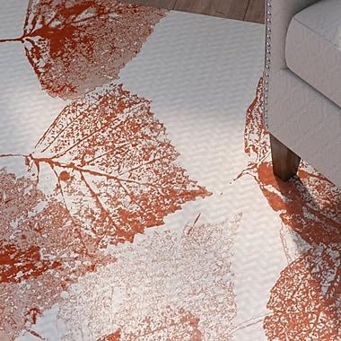 Alcott Hill Miller Rust Indoor/Outdoor Area Rug; 3' x 5'