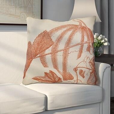 Alcott Hill Miller Hand Towel Stagecoach Floral Euro Pillow; Rust