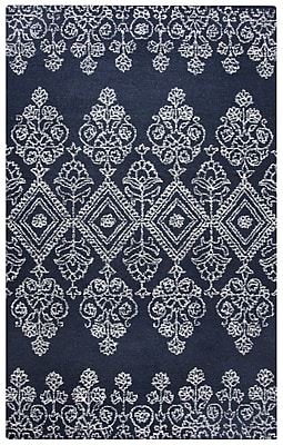 Alcott Hill Avoca Hand-Tufted Ivory/Navy Area Rug; 9' x 12'