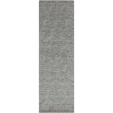 Alcott Hill Gallaher Gray Area Rug; Runner 2'6'' x 8'