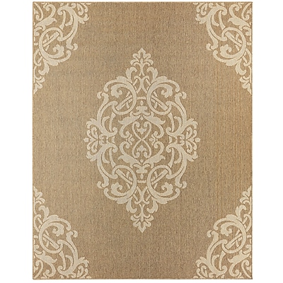 Alcott Hill Elmer Natural Indoor/Outdoor Area Rug; 8' x 10'