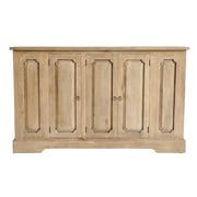 One Allium Way Pannell Rustic Sideboard; Rustic Mango Grey Wash