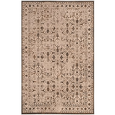 Ophelia & Co. Roma Cream/Bronze Area Rug; Rectangle 4' x 6'