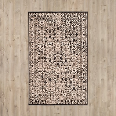 Ophelia & Co. Roma Brown / Black Area Rug; 5'1'' x 7'6''