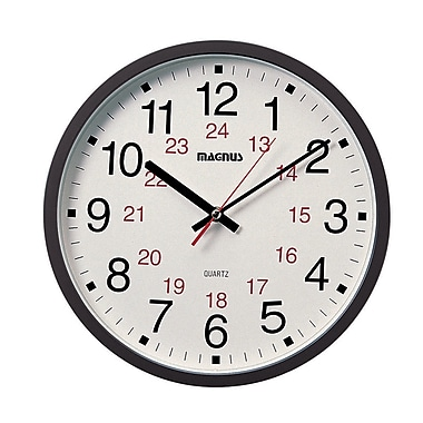 Red Barrel Studio Alyce 12'' Office Glass and Plastic Wall Clock
