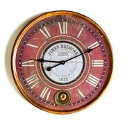 August Grove Round Crimson 23'' Wall Clock
