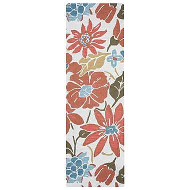 August Grove Soline Hand-Tufted Light Natural Area Rug; Runner 2'6'' x 8'