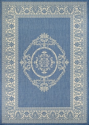 August Grove Miley Blue Indoor/Outdoor Area Rug; Runner 2'3'' x 7'10''