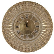 August Grove 14'' Round Polyresin Wall Clock