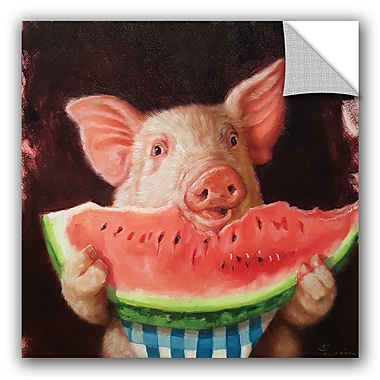 August Grove Gautier Pig Out Wall Decal; 24'' H x 24'' W x 0.1'' D