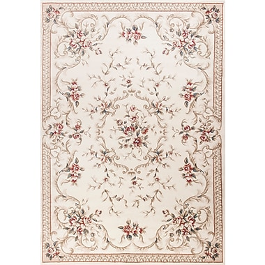 August Grove Vianney Aubusson Ivory Area Rug; Rectangle 7'10'' x 9'10''
