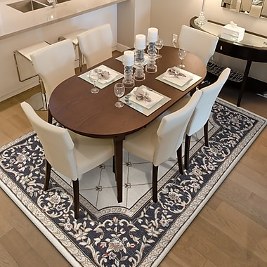 August Grove Vianney Courtyard Ivory/Gray Area Rug; Rectangle 5'3'' x 7'7''