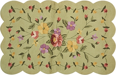 August Grove Cherie Green/Yellow Area Rug