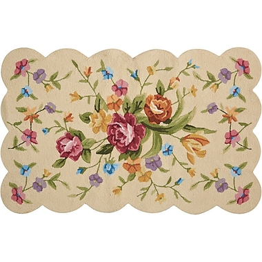 August Grove Cherie Ivory/Green Area Rug