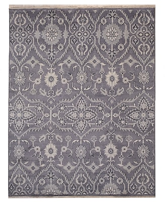 August Grove Cordie Hand-Knotted Gray Area Rug; 8' x 10'