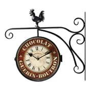 August Grove ''Chocolate'' Rooster Home Decor Wall Clock