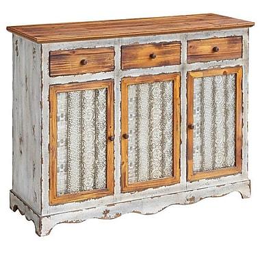 August Grove Rubin Metal and Wood 3 Drawer 3 Door Sideboard