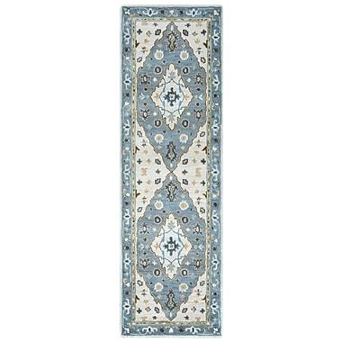 Alcott Hill Gillison Hand-Tufted Ivory/Blue Area Rug; 8' x 10'