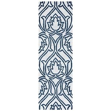 Alcott Hill Gillmore Hand-Tufted Blue/Beige Area Rug; 10' x 14'
