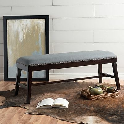 Alcott Hill Ottoman; Charcoal Fabric