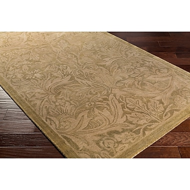 Alcott Hill Acton Hand-Tufted Neutral/Brown Area Rug; Rectangle 5' x 7'6''
