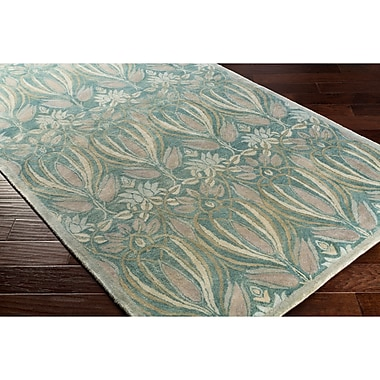 Alcott Hill Acton Hand-Tufted Blue/Gray Area Rug; Rectangle 8' x 10'