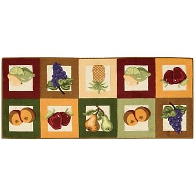 August Grove Grassmere Green/Orange Novelty Rug