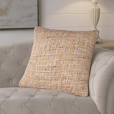 August Grove Chaudiere Cotton Pillow; Orange