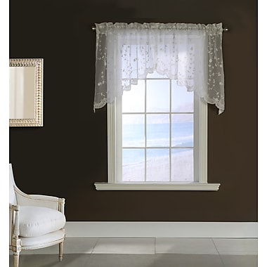 August Grove Meriwether 80'' Curtain Valance (Set of 2); White