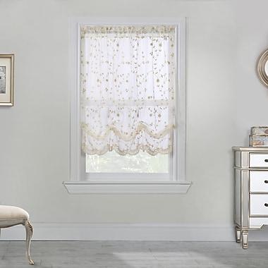 August Grove Meriwether 52'' Curtain Valance; Cream