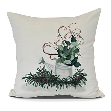 The Holiday Aisle Gardener's Delight Holiday Throw Pillow; 20'' H x 20'' W