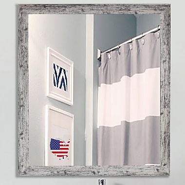 August Grove Square Weathered Farmhouse Accent Wall Mirror; 39'' H x 39'' W