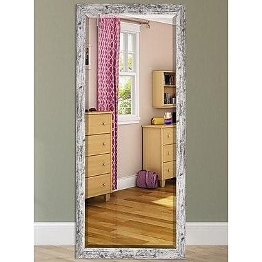 August Grove Wood Weathered Farmhouse Accent Wall Mirror; 65.5'' H x 32'' W
