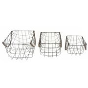 August Grove Metal 3 Piece Basket Set